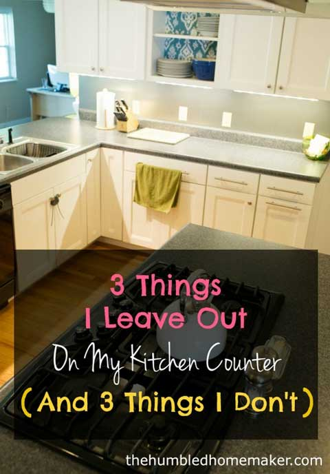 things to leave out on kitchen counter