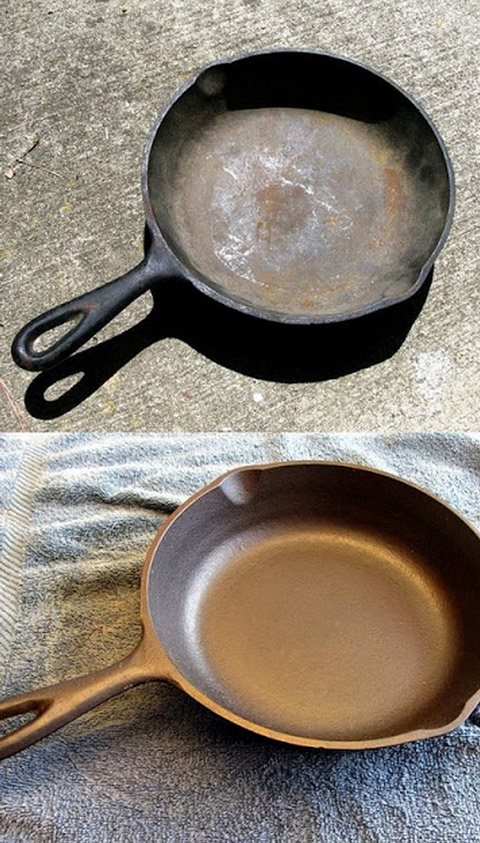 re-seasoning cast iron