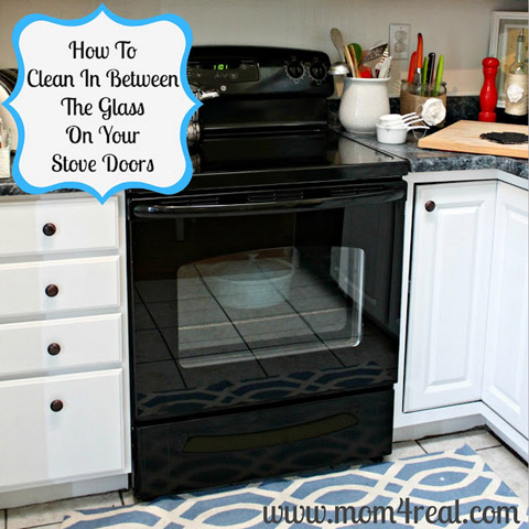 between glass on your oven
