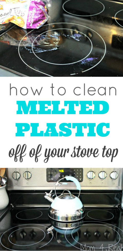 Clean Melted Plastic Off of Your Stove Top
