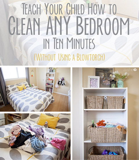 Clean ANY Bedroom in Ten Minutes