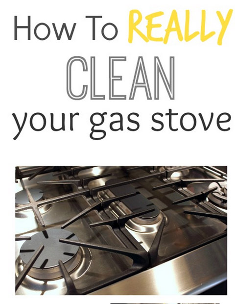 clean gas stove