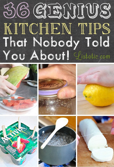 list of kitchen tips