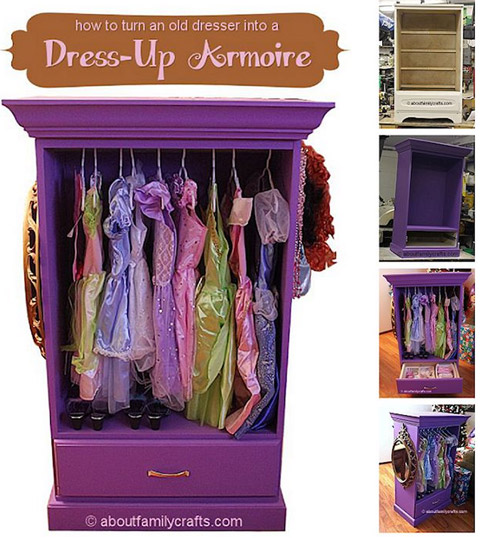 Dresser Into A Dress-up Armoire