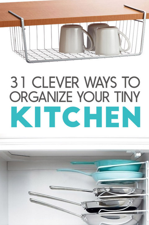 organize your tiny kitchen