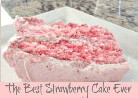 The Best Strawberry Cake Ever