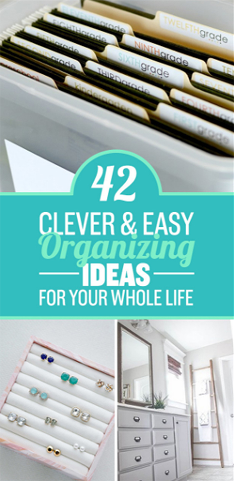 42 Clever Organizing Ideas