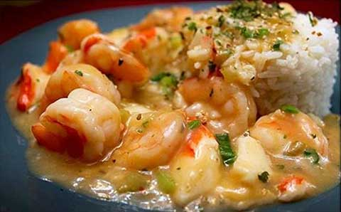 Shrimp and Crab Meat With Rice