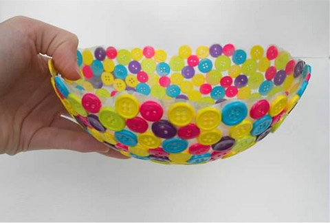 Create a Unique Bowl Using Old Buttons
