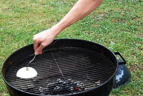 Tip: Clean the Grill With an Onion