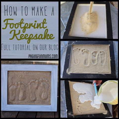 How To Make DIY Sand Footprint Craft
